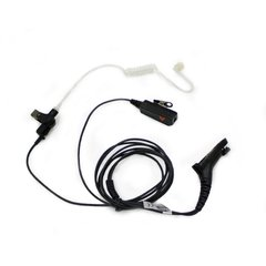 Concealed Headset Earpiece Mic for Motorola DP4400 Radio, Black