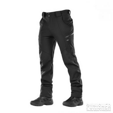 M-Tac Soft Shell Winter Black Pants, Black, Small