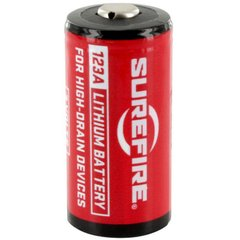 Surefire SF12-BB CR123A Batteries, Red