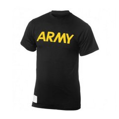 Футболка для занять спортом US ARMY APFU T-Shirt Physical Fit, Чорний, Medium