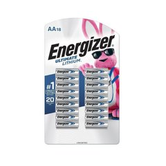 Energizer Ultimate Lithium AA Battery 18 pcs (1.5V), Silver