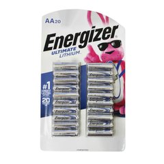 Energizer Ultimate Lithium AA Battery 20 pcs (1.5V), Silver