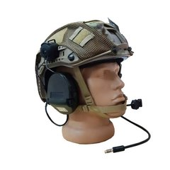 MSA Sordin Supreme Headset with adaptor on helmet rails, Olive