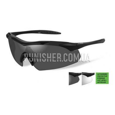 Тактичні окуляри Wiley-X Vapor APEL Grey   Clear Lens   Matte Black Frame a88463c6210e3