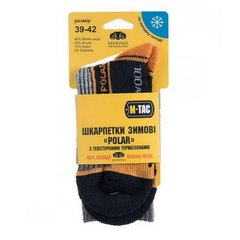M-Tac Polar Merino 40% Black Socks, Black, 39-42