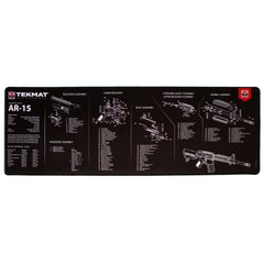 TekMat Ultra Weapon Cleaning Mat with AR-15 Drawing, Black